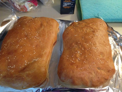 My fully baked loaves! This was also my first time baking bread from scratch and it was super easy.
